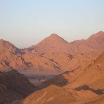 Avondlicht over Sinaï woestijn