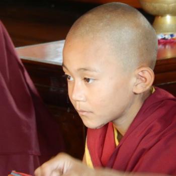 bijzonder bezoek bij het klooster