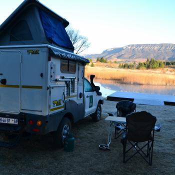 Onze camper bij Drakensbergen