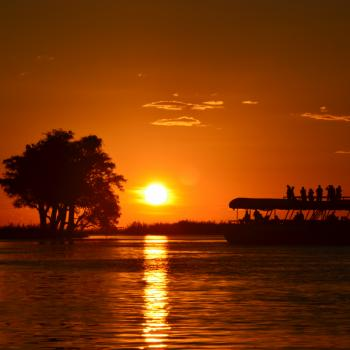 Sunset boatcruise on Chobe River