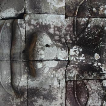 Eén van de prachtige stukjes Angkor Wat