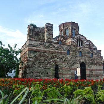 Een oude ruïne in Nessebar