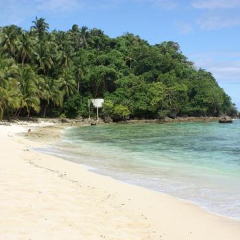 Typisch strand op Siargao