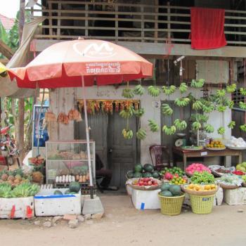 Één van de vele fruitstalletjes in Siem Reap