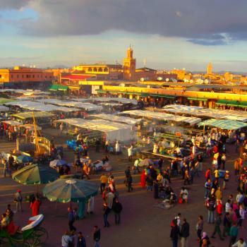 Djema el fna plein in Marrakesh