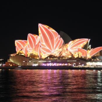 Sydney Opera House tijdens het lichten festival.