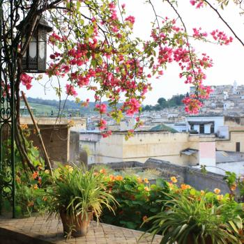 Van uit het hotel met uitzicht over Fez.