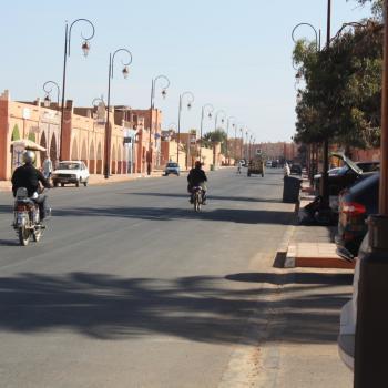 Rustige straat in Marokko
