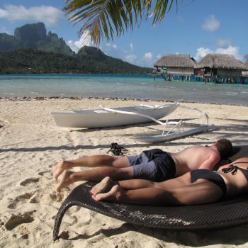 motu bij Bora Bora