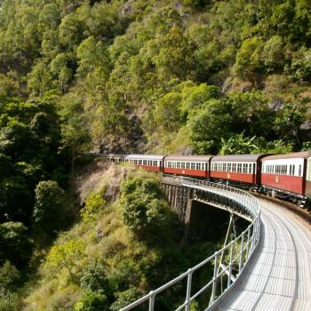 de Kuranda Scenic Railway bij Cairns