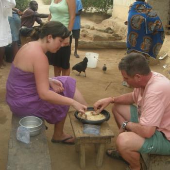 fufu maken, en daarna heerlijk opeten in banko
