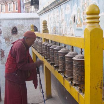 Boedha-tempel Kathmandu, een oase in de drukke stad