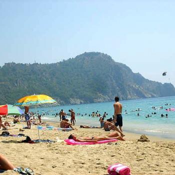 Het Kleeopatra strand in Alanya