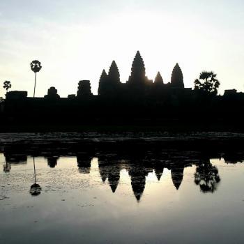 Angkor wat tijdena de zonsopgang