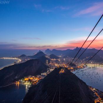 Uitzicht Sugar Loaf op Rio en het Christusbeeld