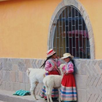 Meisjes in Colca Canyon