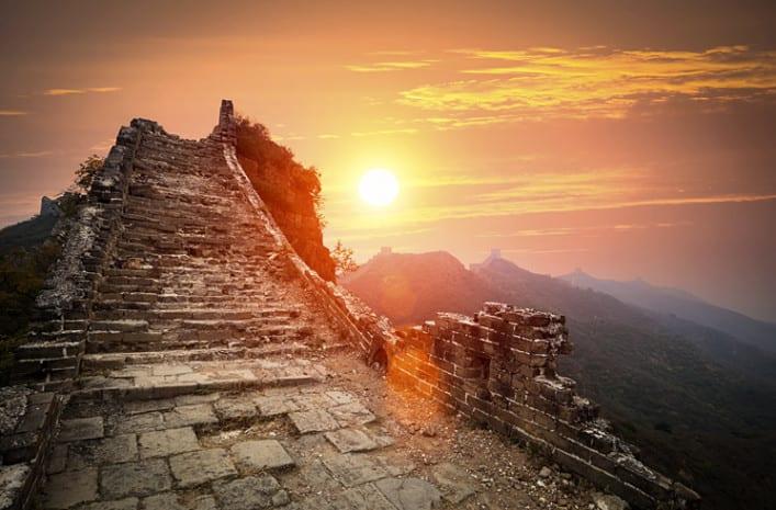 Lopen over de Chinese muur