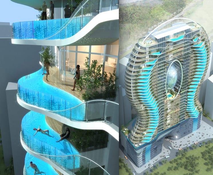 De 11 mooiste zwembaden ter wereld 27 for Balcony concept