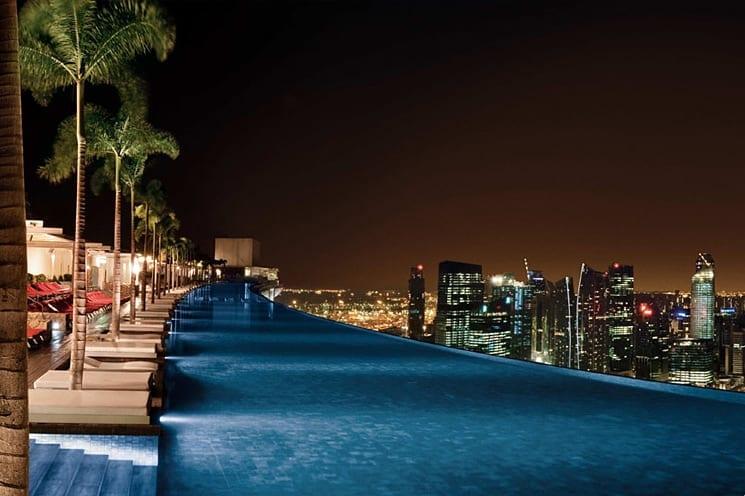 Infinity pool, Marina Bay Sands Hotel, Singapore