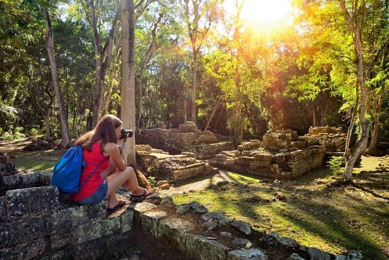 Honduras - ancient Mayan ruins in Copan. Honduras