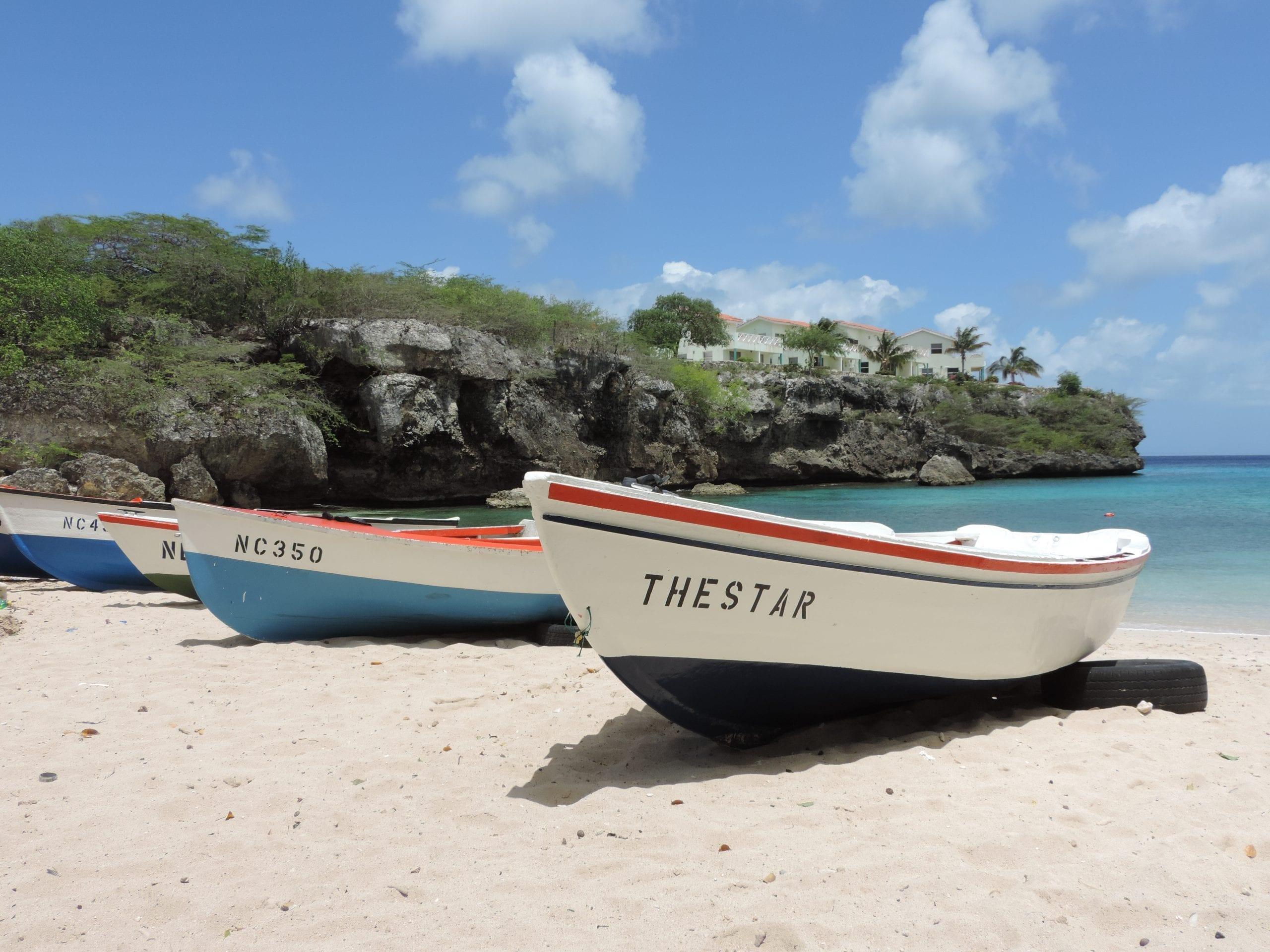 Strandje op Curacao