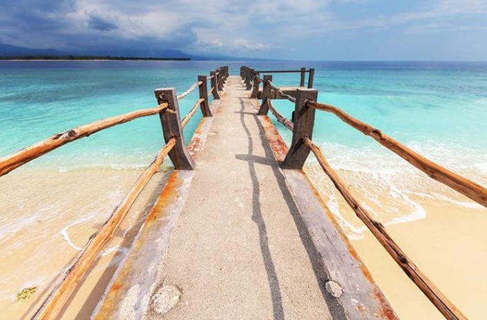 Parelwitte stranden op de Gili eilanden