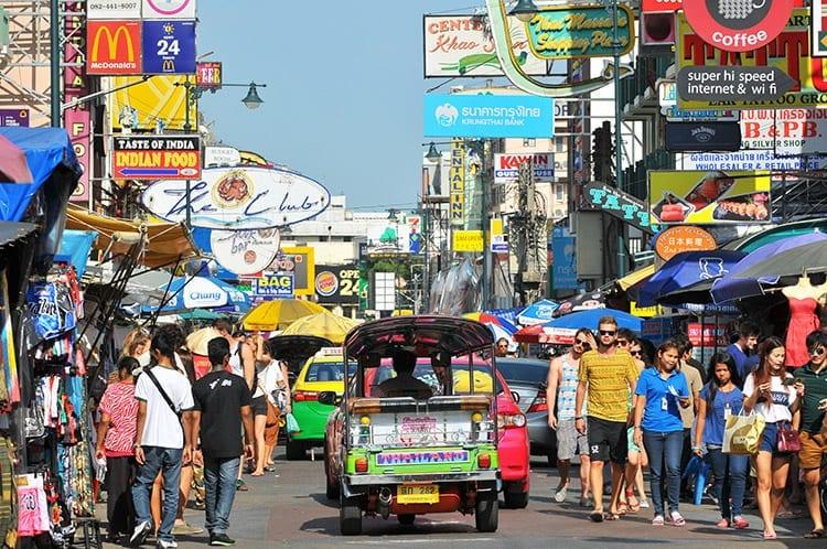 Het altijd gezellige Khao San Road