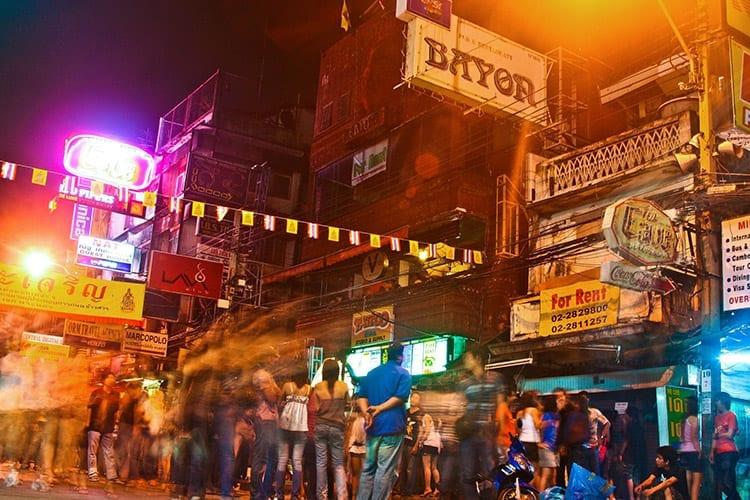 Het nachtleven bij Khao San Road