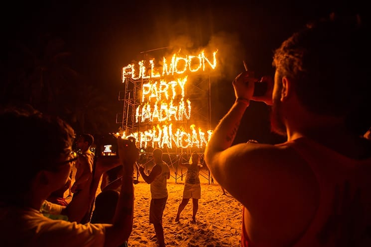 De Full Moon Party op Koh Phangan
