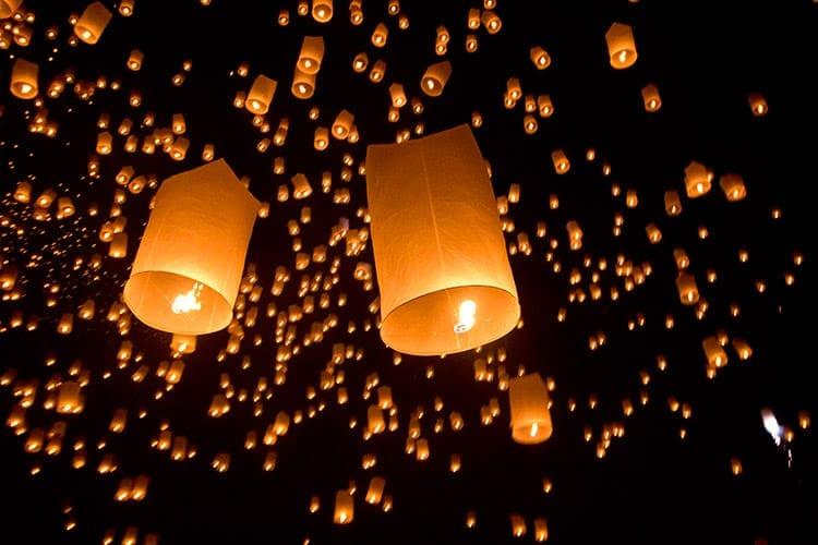 Het Yi Peng festival in Chiang Mai