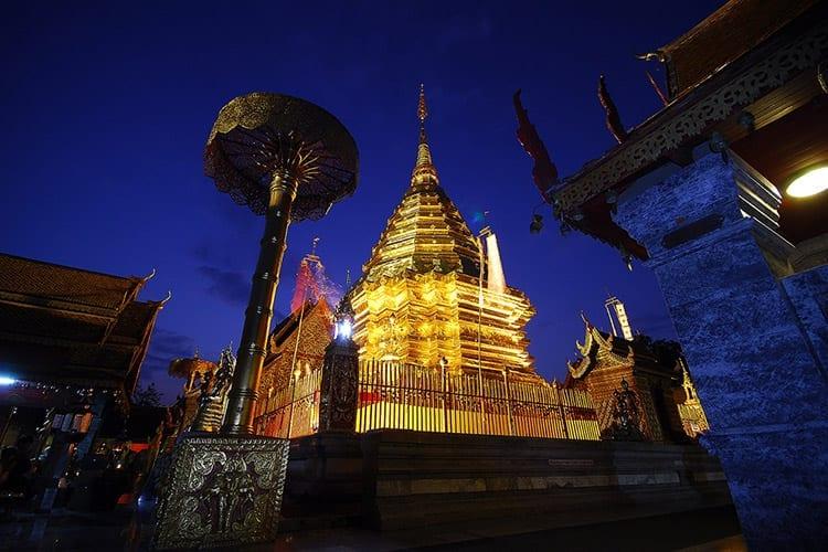 De Wat Phratat Doi Suthep tempel