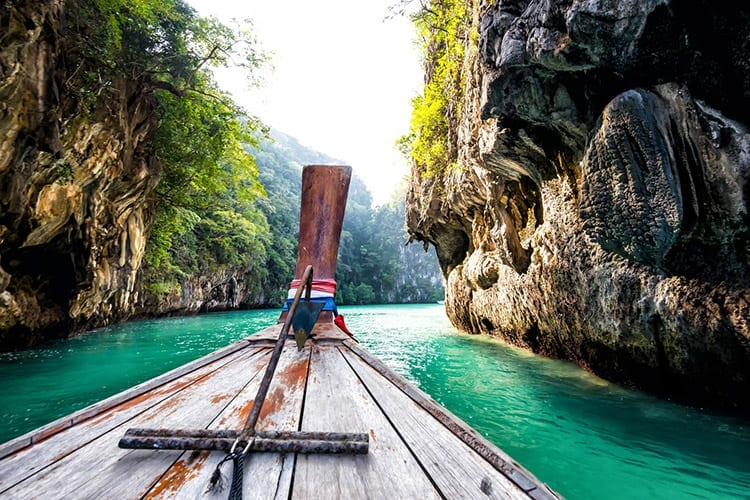 Longtail boot in Krabi