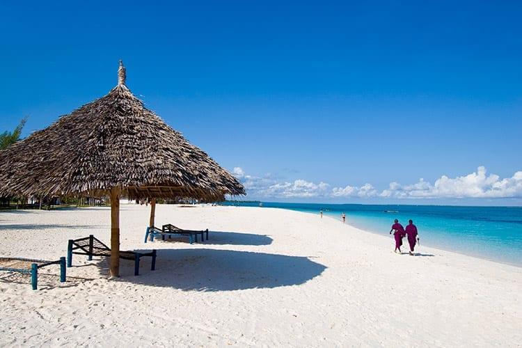 Strand op Zanzibar
