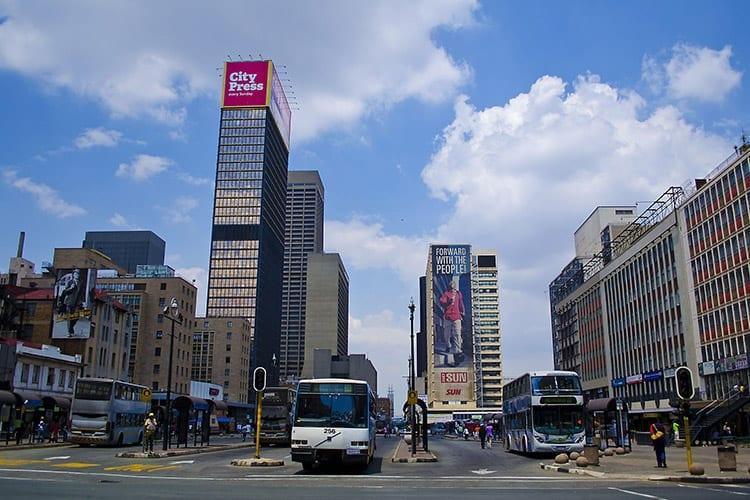 Ghandi Sqaure in Johannesburg