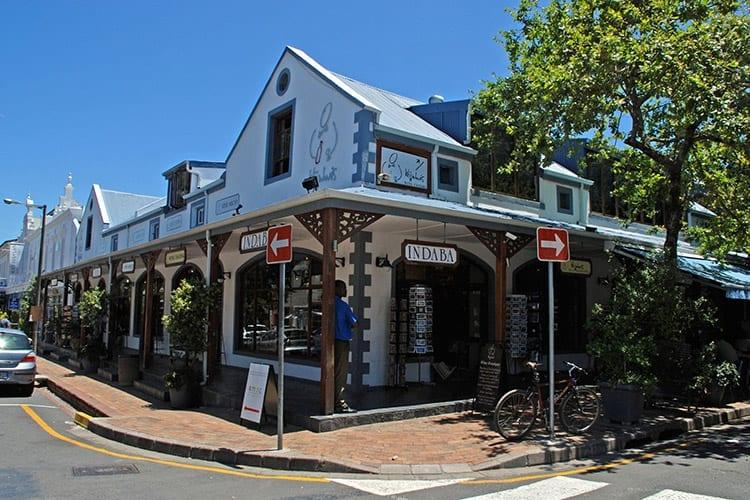 Het centrum van Stellenbosch