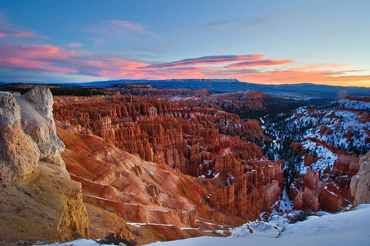 Bryce Canyon in de winter