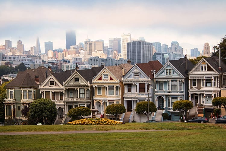 The Painted Ladies van San Francisco