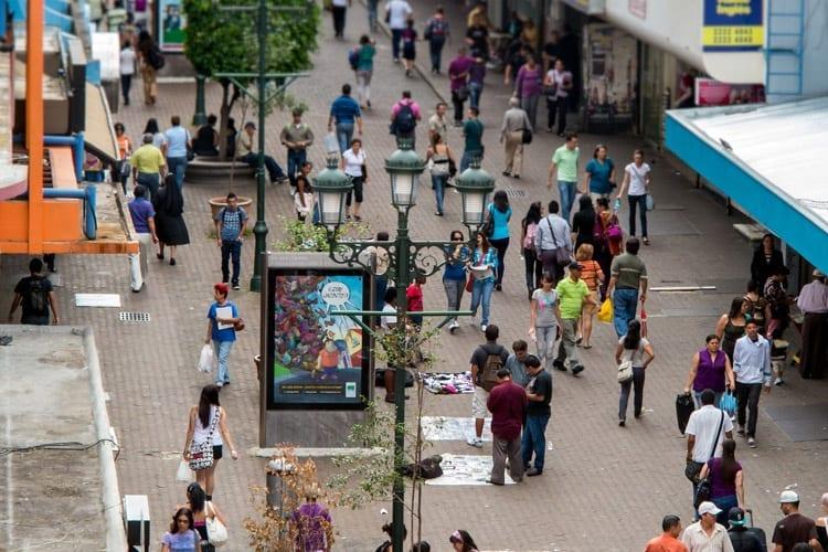 Avenida Central in San José