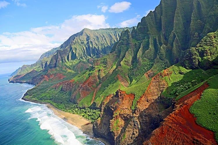 Napali Coast op het Kauai eiland