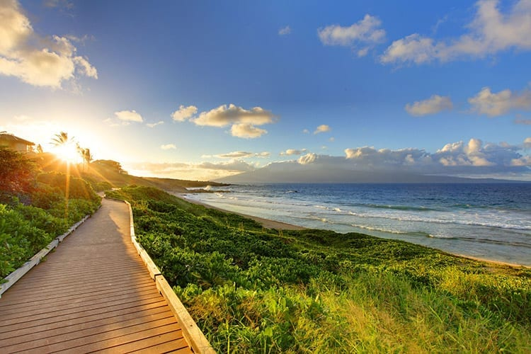 Zonsondergang op Maui