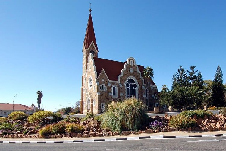 Christuskirche in het centrum van Windhoek