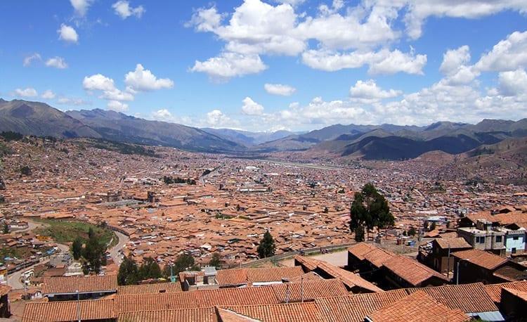 Uitzicht op de stad Cusco
