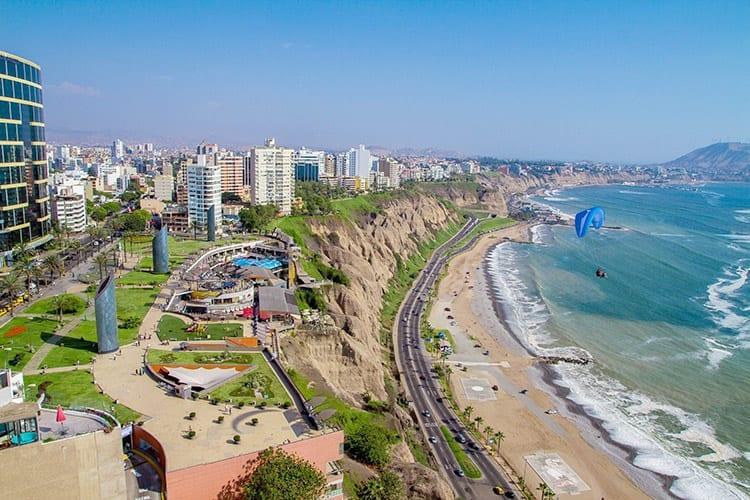 Miraflores Park in Lima