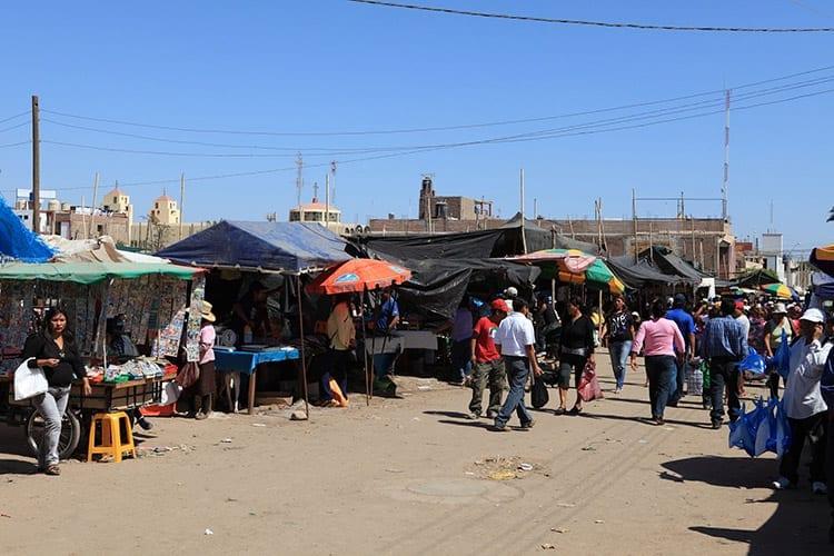 Markt in het stadje Nazca