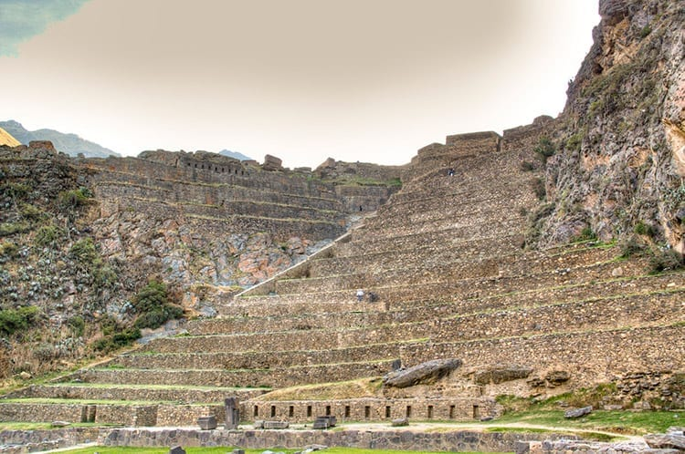 De terrassen van Ollantaytambo