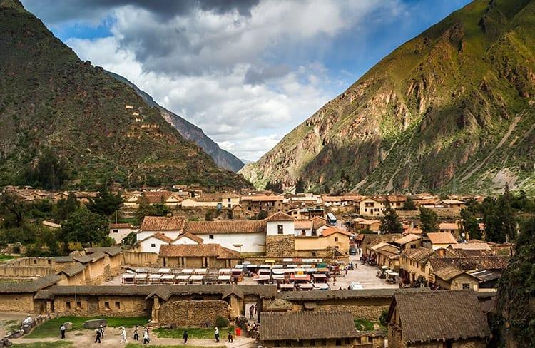 Het dorpje Ollantaytambo