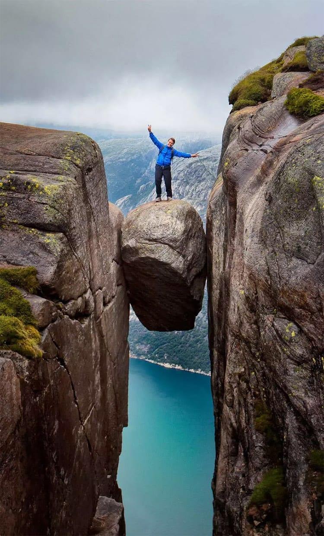 Kjeregbolten kei in Rogaland, Noorwegen