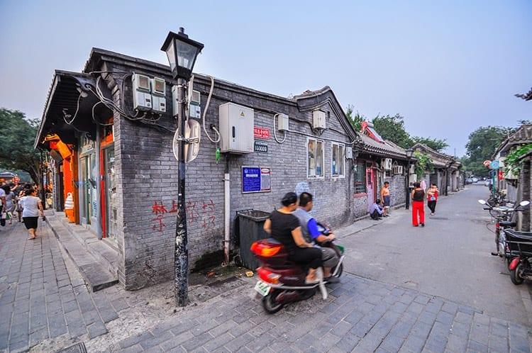 Hutong straat in Beijing