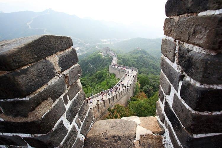 De Chinese Muur bij Badaling