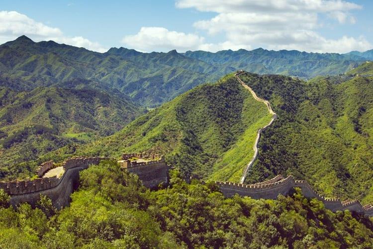 De Chinese Muur bij Huanghuacheng